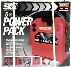 Maypole 738A Power Pack Compressor 20 AH £10.44 @ Amazon