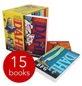 Roald Dahl 15 Book Slipcase Collection + FREE Baby Sees - Spots and Dots book + Filller book of your choice - all for £13.75 delivered @ The Book People
