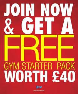 FREE starter gym pack worth £40 DW SPORTS when joining