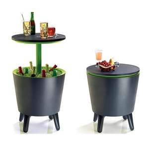 Keter Outdoor Coolbar Drinks Cooler Box Bar Table - Black/Green for £39.94 Delivered @ Brooklyn Trading
