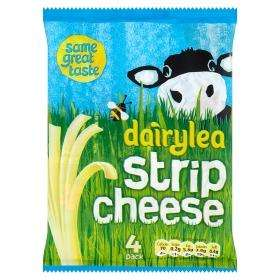 Dairylea Strip Cheese 4 pack 84G £0.50 @ Asda Instore and Online