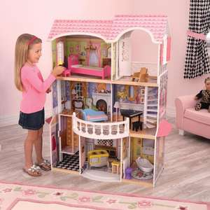 KidKraft Magnolia Mansion Dollhouse + 13 Pieces of Furniture - £79.99 @ Costco