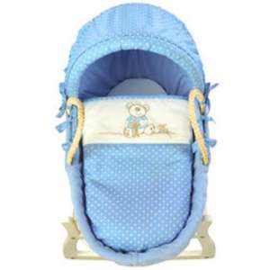 I Love My Bear (Blue or Pink) Spot Moses Basket & mattress £34.99 del @ Babies R Us (using code) was £79.99