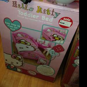 Hello kitty bed was £54 now £15 in asda