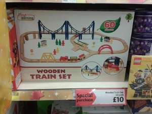 60 piece Wooden Train set - £10 @ Morrisons