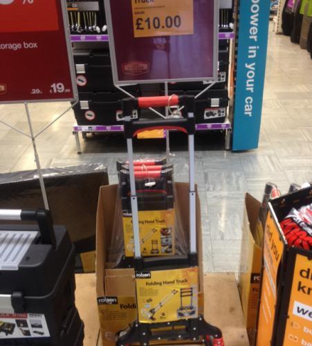 Halfords rolson folding hand truck £10 / 70% off
