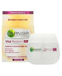 Glitch? At boots. Garnier Vital Restore Day Cream SPF 15 50ml £4.99