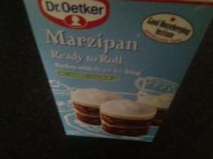 dr oetker ready to roll marzipan 454 g box from aldi was £1.99 now .89p