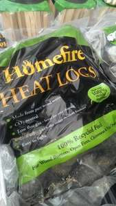 10Kg Homefire heat logs 3 for £10.00 B&M stores