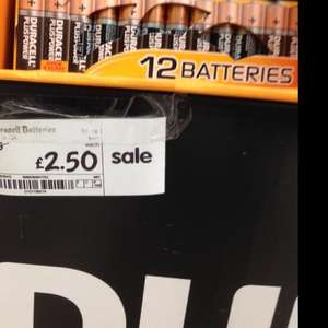 12pack Duracell AA Batteries £2.50 @ Asda instore