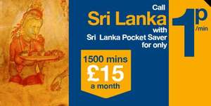 Vectone Sri Lanka Pocket Saver: 1,500 minutes to one number in Sri Lanka
