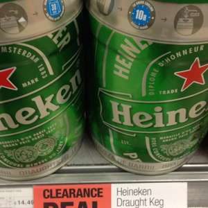 Heineken keg 5L co-op clearance offer £14.49