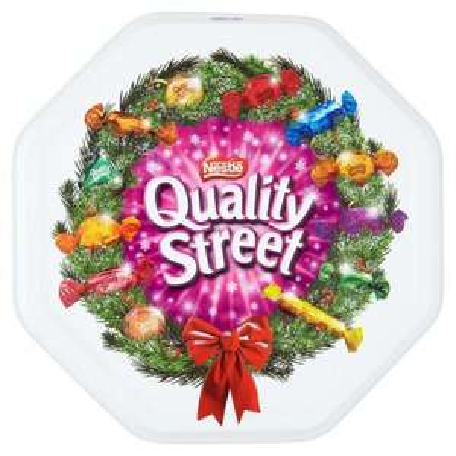 Quality Street (Larger Size) tin, 1.25kg. £5 at Ocado