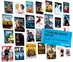 Sky Box Office - Free HD Movie Offer, worth up to £4.49