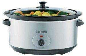 Cookworks 6.5 Litre Slow Cooker - Silver. Now £17.99 @ Argos