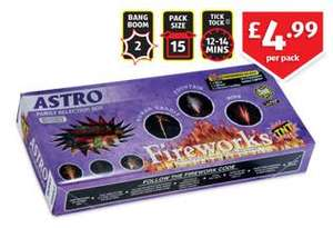 Remember remember .... 15 pack of fireworks for £4.99 @ Aldi instore