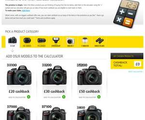 Nikon Cashback on purchases - up to £160 on certain cameras and lens