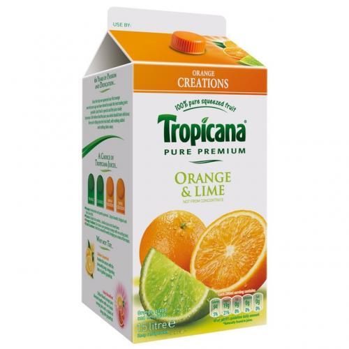 1.5L Tropicana Orange & Lime 100% Fruit Juice £0.99 @ 99p Stores