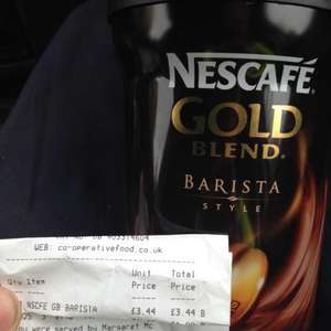 Nescafé Gold blend barista style coffee £3.44 @ co op