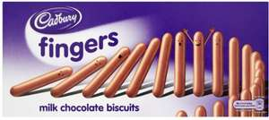 Cadbury Chocolate Fingers box 125g for 79p @ The Range