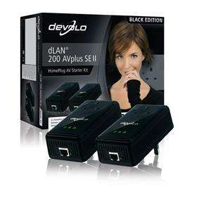 Devolo 1579 dLAN 200 AVplus SE II Pass Through Starter Kit (Special Black Edition) £19.99 Delivered @ Box.co.uk