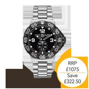 Tag Heuer Formula 1 Stainless Steel Gents Watch. Goldsmiths was £1075 now £752.50 @ goldsmiths - with quidco £714.90