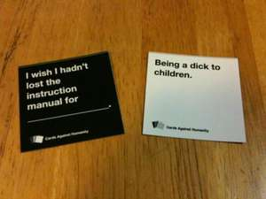 CARDS AGAINST HUMANITY - Free card game pdf, very funny, very politically incorrect...