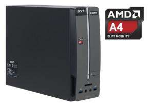 Acer Aspire XC-105 Desktop, AMD A4-5000,1.5GHz, 4GB RAM, 500GB HDD, DVD ROM, AMD HD8000, Free DOS for £159.99 @ Ebuyer