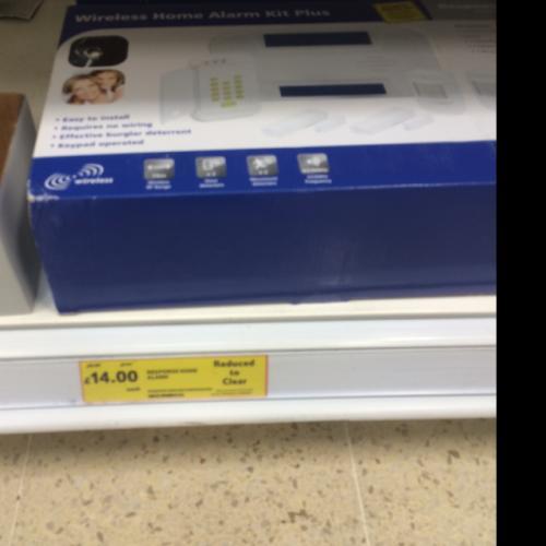 Response wireless home alarm kit plus tesco instore £14