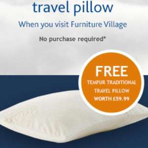 Free Tempur pillow at Furniture Village