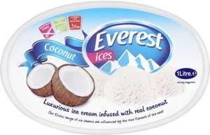 Everest Ices Coconut Ice Cream (1L) was £1.50 now (BOGOF) @ Tesco