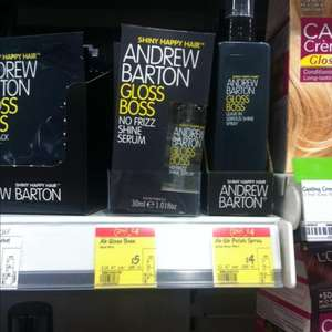 Andrew Barton hair products from £4 each or two for £4 at Asda instore and online