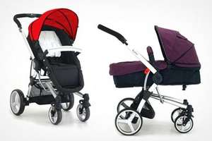 Petite Star Kurvi 3 in 1 pushchair and pram £165 @ Groupon