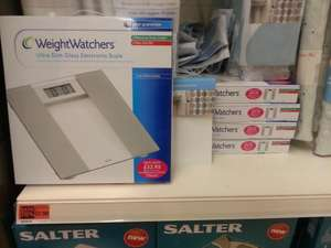 Weight Watchers bathroom scales 75% off £7.50 @ Sainsburys instore