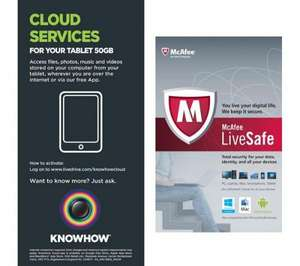 McAfee Live Safe - Unlimited devices - 1 Year (RRP £95) £20 at Currys