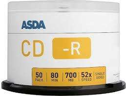 ASDA 50 Blank CD-R In-Store £3.87