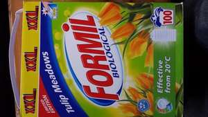 Formil biological powder 100 washes £6.99 @ Lidl