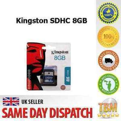 Kingston 8gb SDHC Memory card (new) £4.84 @ Ebay/kvj-f