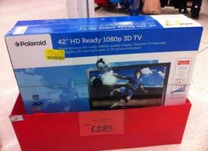 "42"" Polaroid LED backlit  3d t.v  £285  in asda store (maybe local)"