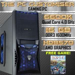 ULTRA FAST Quad Core 4.0Ghz 16GB 1TB Desktop Gaming PC Computer AMD - 359.99 @ eBay (the_pc_customiser)