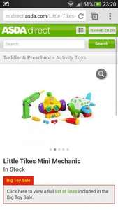 Little Tikes mini mechanic £7 @ Asda