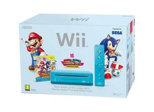 Mario & Sonic 2012 Olympics Wii Console - Blue £59.00 **Tesco Instore Only**