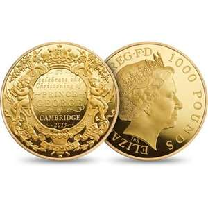 Royal Christening 1kg gold coin only £50000 Royal Mint on line