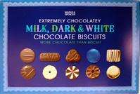 Milk Dark & White Chocolate Biscuits 500 g instore M&S £3