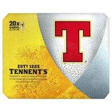 Tesco. Tennents Lager 20X440ml Cans £9 instore