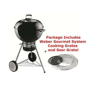 Weber One Touch Premium 57cm black with included sear grate gourmet system £174.99 Delivered @ wowbbq