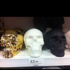 Skull money box @ Home Bargains - £2.99