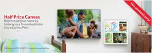 Half price canvas at Tesco Online Photo Centre - Create Canvas Prints £9.95