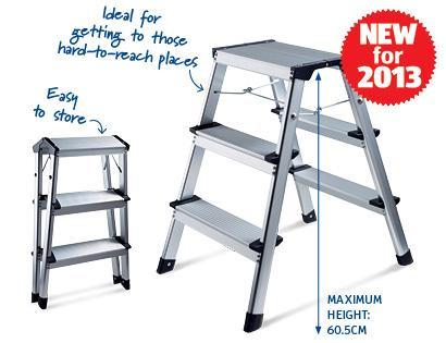 Aluminium Folding 3 step Ladder £24.99 @ Aldi
