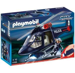Playmobil 5183 Police Helicopter with Led Spotlight £15.00 @ Amazon